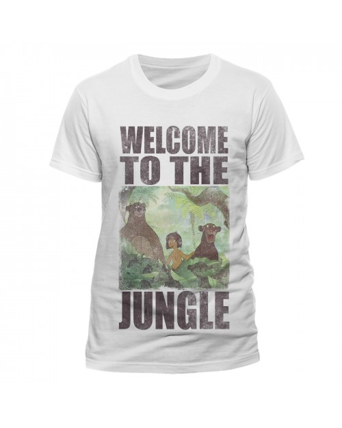 DISNEY - THE JUNGLE BOOK - WELCOME TO THE JUNGLE WHITE T-SHIRT