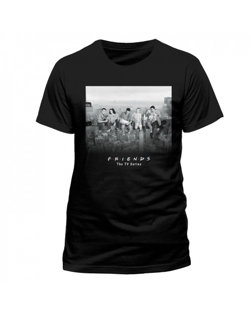 OFFICIAL FRIENDS (TV SERIES) - SKYSCRAPER IMAGE BLACK T-SHIRT