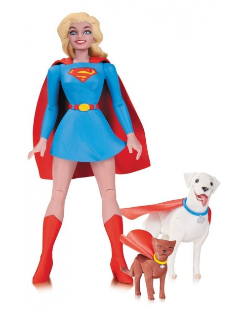 DC COLLECTIBLES x SUPERGIRL, KRYPTO & STREAKY - ACTION FIGURE (17cm)
