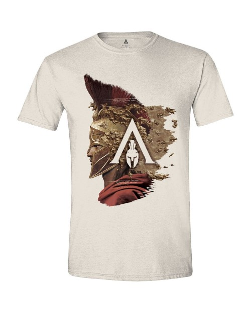 OFFICIAL ASSASSIN'S CREED: ODYSSEY ALEXIOS SIDE LOGO CREAM T-SHIRT