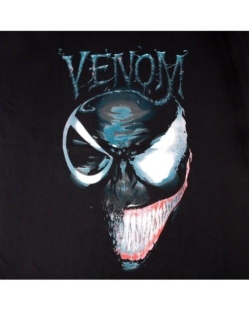 OFFICIAL MARVEL COMICS - VENOM 2 FACES BLACK T-SHIRT