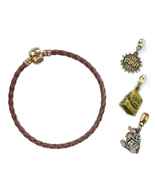 OFFICIAL FANTASTIC BEASTS BROWN CHARM BRACELET with ONE CHARM