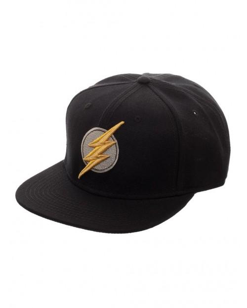 DC COMICS - JUSTICE LEAGUE THE FLASH SYMBOL BLACK SNAPBACK CAP