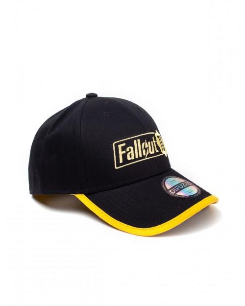 OFFICIAL FALLOUT 76 LOGO YELLOW AND BLACK BASEBALL SNAPBACK CAP