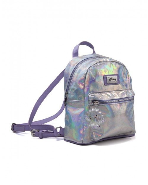 OFFICIAL DISNEY THE LITTLE MERMAID IRIDESCENT DEBOSSED PATTERN BACKPACK