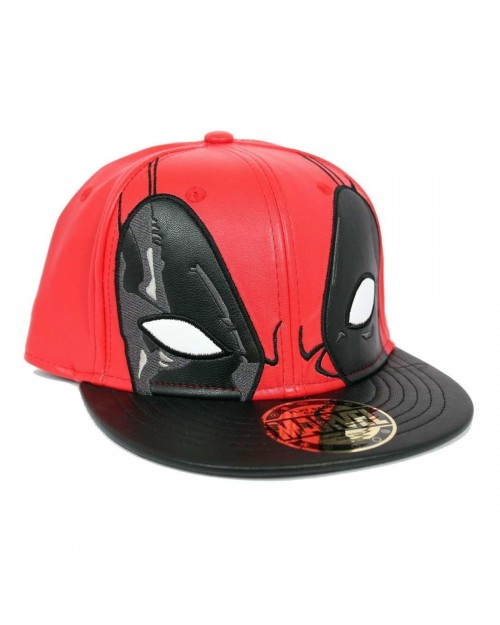 OFFICIAL MARVEL - DEADPOOL EYES COSTUME STYLED RED SNAPBACK CAP
