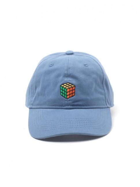 OFFICIAL RUBIKS CUBE BLUE STRAPBACK BASEBALL CAP 'DAD HAT'