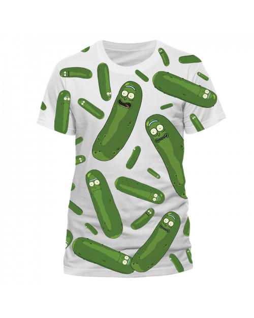 ADULT SWIM - RICK AND MORTY PICKLE RICK ALL OVER PRINT WHITE T-SHIRT