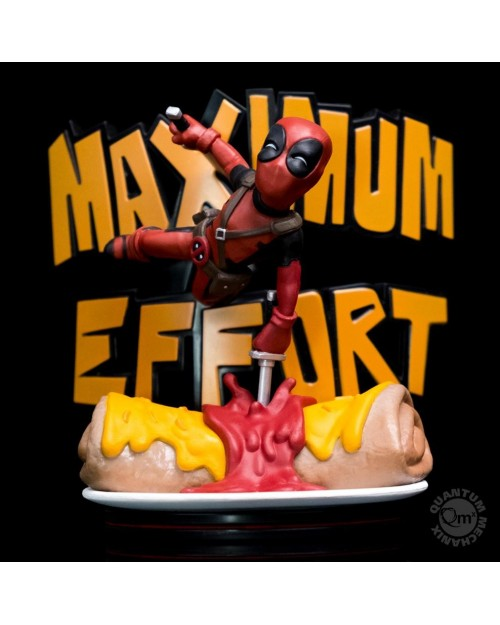 QUANTUM MECHANIX MAX x MARVEL DEADPOOL MAXIMUM EFFORT Q-FIG MINI FIGURE (14 cm)