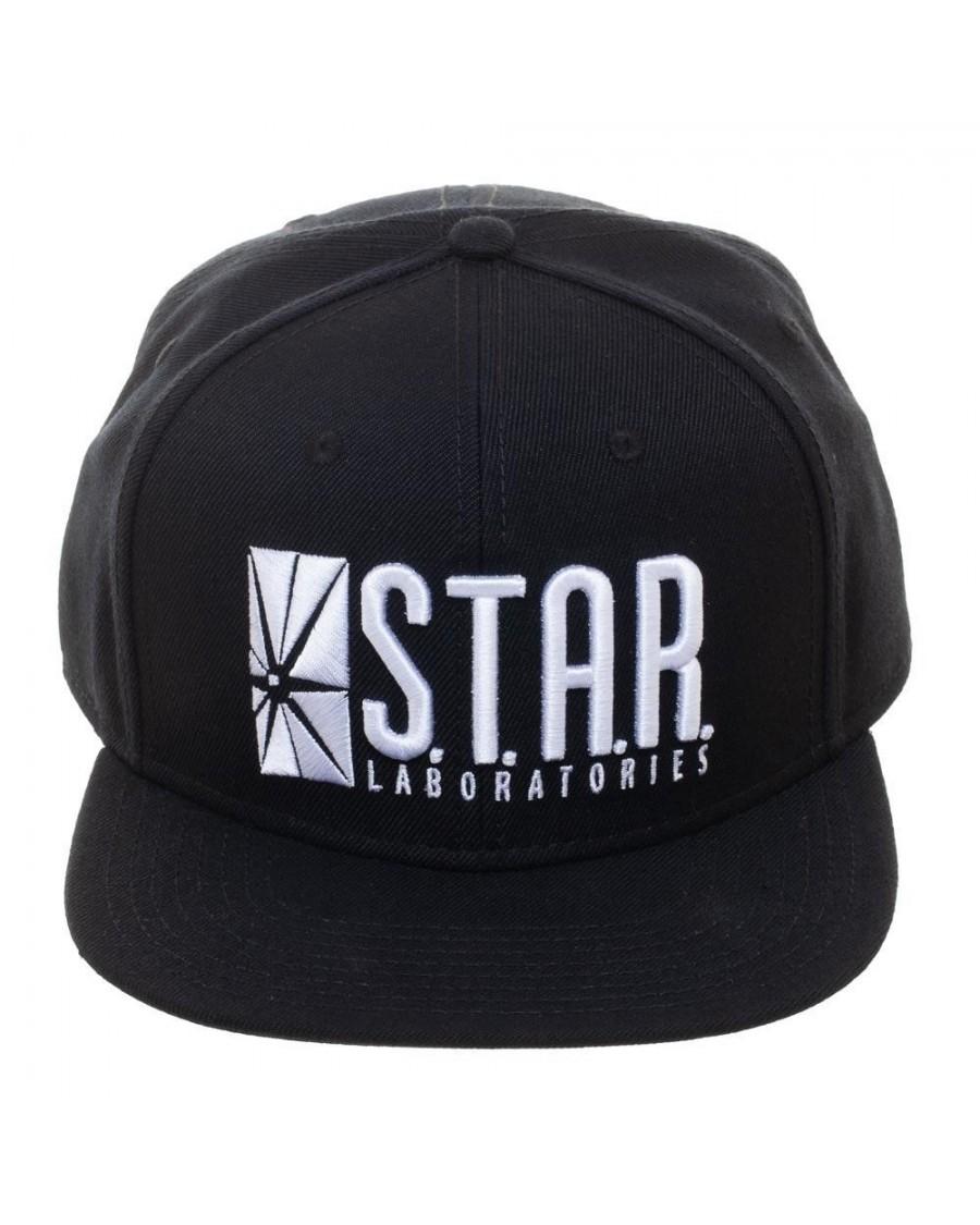 OFFICIAL DC COMICS - THE FLASH STARLABS LOGO BLACK SNAPBACK CAP