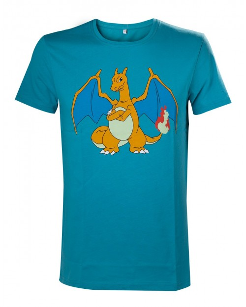 OFFICIAL POKEMON MOODY CHARIZARD TURQUOISE T-SHIRT