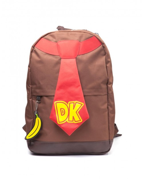 OFFICIAL NINTENDO - DONKEY KONG - TIE / BANANA BROWN BACKPACK