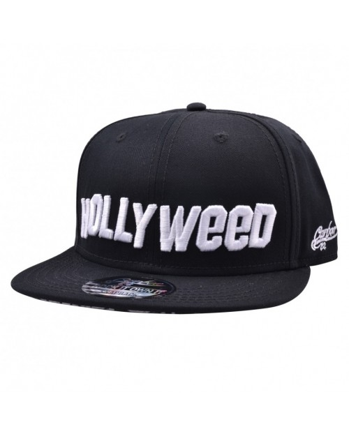 CARBON 212 HOLLYWEED PRINTED VISOR BLACK SNAPBACK CAP