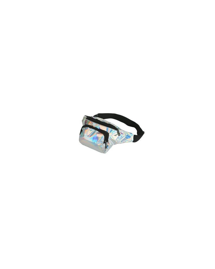 SILVER HOLOGRAPHIC BUM BAG (FANNY PACK)