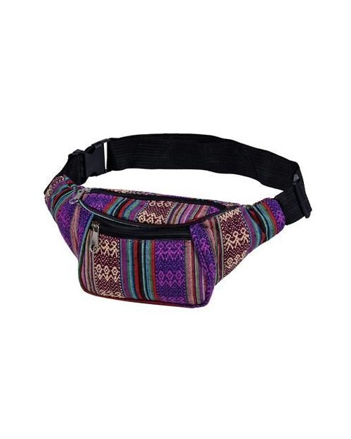 PURPLE CANVAS BUM BAG (FANNY PACK)
