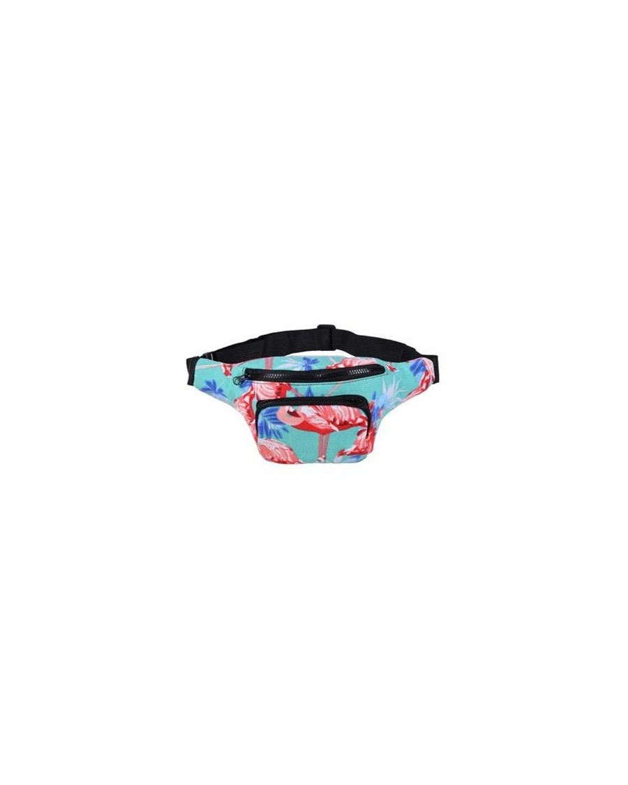 FLAMINGO AQUA PRINT BUM BAG (FANNY PACK)