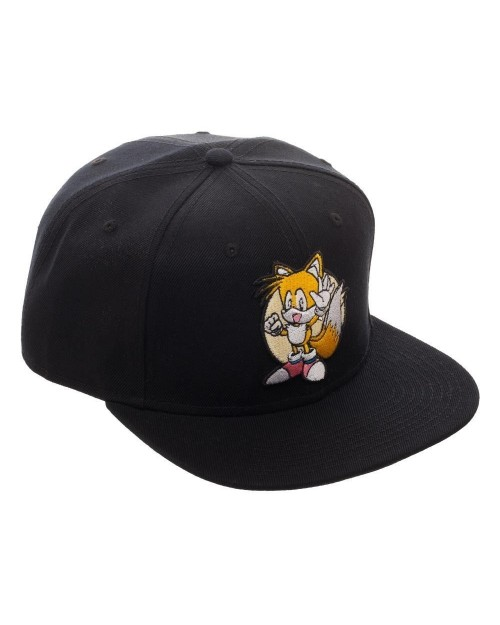 OFFICIAL SONIC THE HEDGEHOG TAILS BLACK SNAPBACK CAP