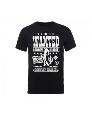 OFFICIAL DISNEY - TOY STORY WANTED POSTER WOODY 'COWBOY ON THE LOOSE' BLACK T-SHIRT