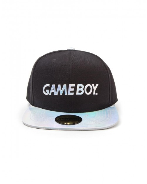 OFFICIAL NINTENDO GAME BOY IRIDESCENT LOGO BLACK SNAPBACK CAP