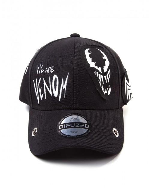 OFFICIAL MARVEL COMICS - VENOM PUNK CURVED BLACK SNAPBACK BASEBALL CAP