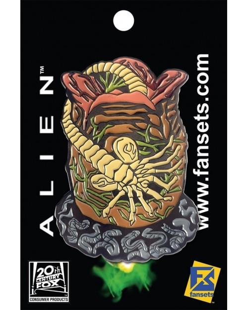 OFFICIAL ALIEN - FACE HUGGER FANSET METAL PIN BADGE
