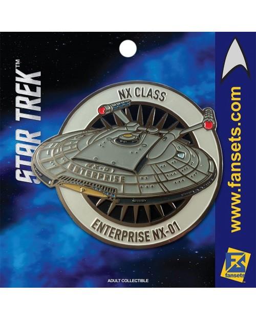 OFFICIAL STAR TREK - NX CLASS ENTERPRISE NX-01 FANSET METAL PIN BADGE
