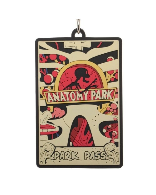 OFFICIAL RICK AND MORTY - ANATOMY PARK 3D ID SLEEVE LANYARD