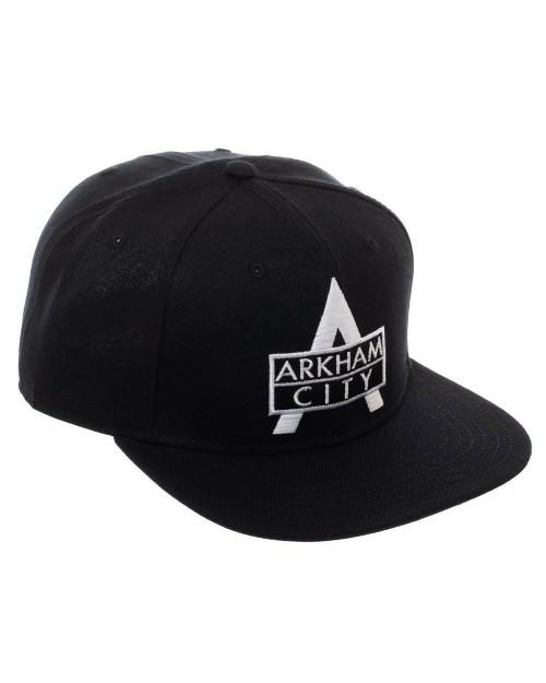 DC COMICS - ARKHAM CITY LOGO BLACK SNAPBACK CAP