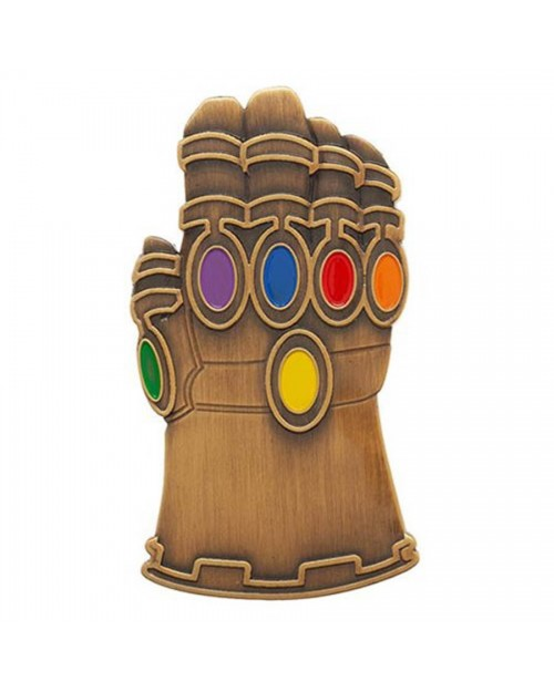 OFFICIAL MARVEL COMICS - AVENGERS: INFINITY WAR INFINITY GAUNTLET METAL PIN BADGE