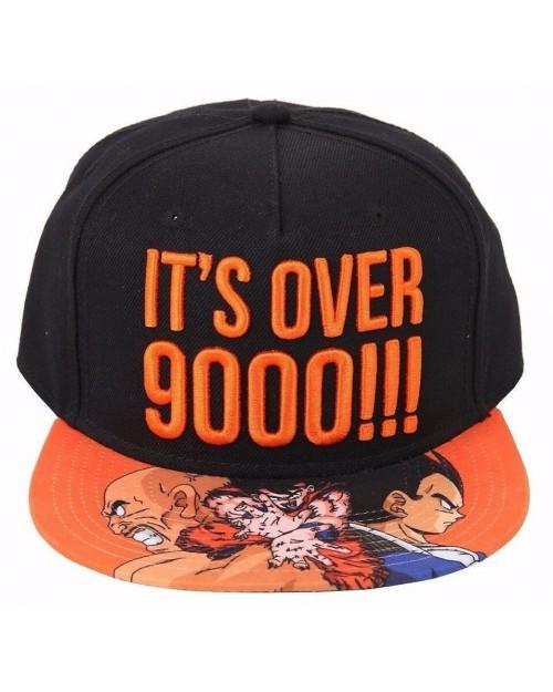 OFFICIAL DRAGON BALL Z - IT'S OVER 9000 VEGETA/ GOKU BLACK SNAPBACK CAP WITH PRINTED VISOR