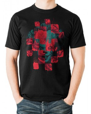 OFFICIAL IT CHAPTER 2 - PENNYWISE DISTORT PRINT BLACK T-SHIRT
