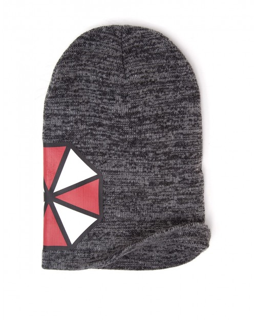 OFFICIAL RESIDENT EVIL UMBRELLA CORPORATION LOGO GREY BEANIE HAT