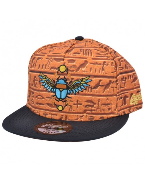 CARBON 212 EGYPTIAN HIEROGLYPHICS ALL OVER PRINT SNAPBACK CAP
