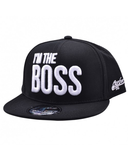 CARBON 212 I'M THE BOSS BLACK SNAPBACK CAP