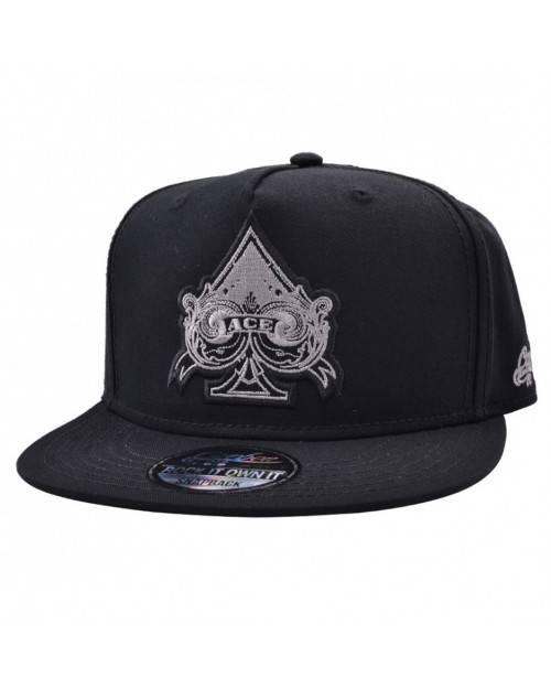 CARBON 212 CARDS ACE OF SPADES BLACK SNAPBACK CAP
