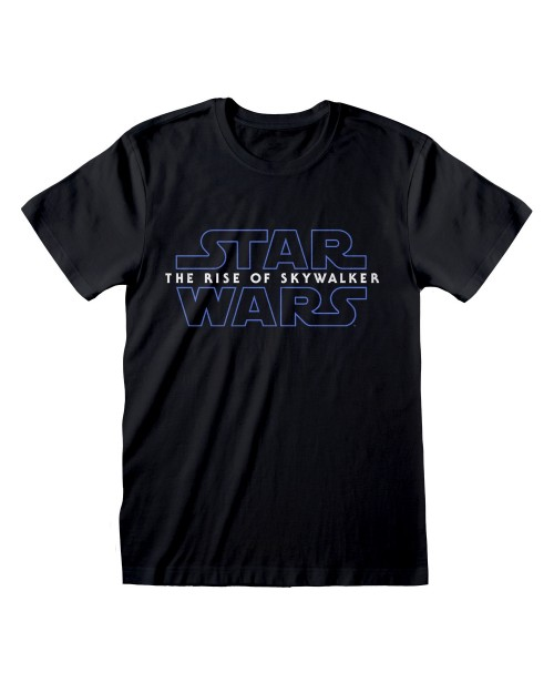 OFFICIAL STAR WARS : RISE OF SKYWALKER LOGO PRINT BLACK T-SHIRT