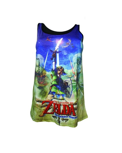 OFFICIAL THE LEGEND OF ZELDA: SKYWARD SWORD ART PRINT VEST/ TANK TOP
