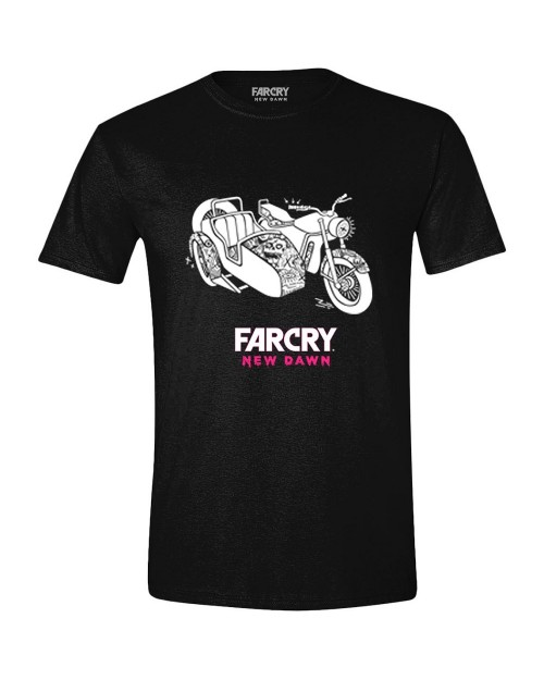 OFFICIAL UBISOFT - FAR CRY NEW DAWN SIDE CAR BLACK T-SHIRT