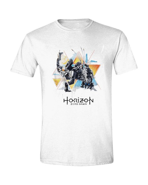OFFICIAL HORIZON ZERO DAWN THUNDERJAW STANCE WHITE T-SHIRT