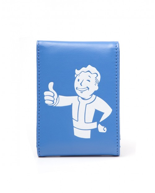 OFFICIAL FALLOUT 4 - VAULT BOY APPROVES BLUE BI-FOLD WALLET