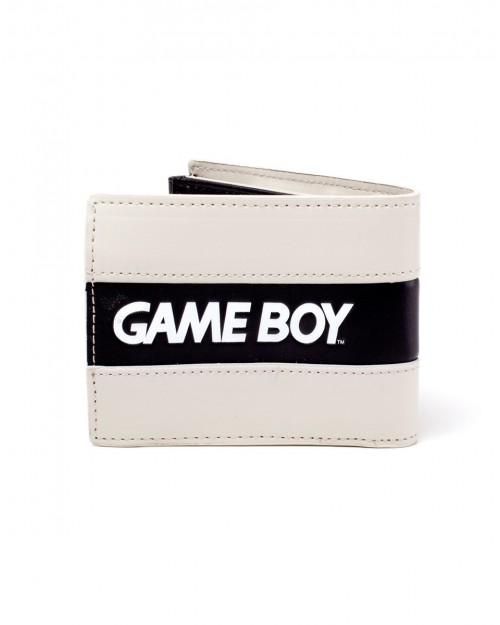 OFFICIAL NINTENDO - GAME BOY RUBBER PATCH GREY/ BLACK BI-FOLD WALLET