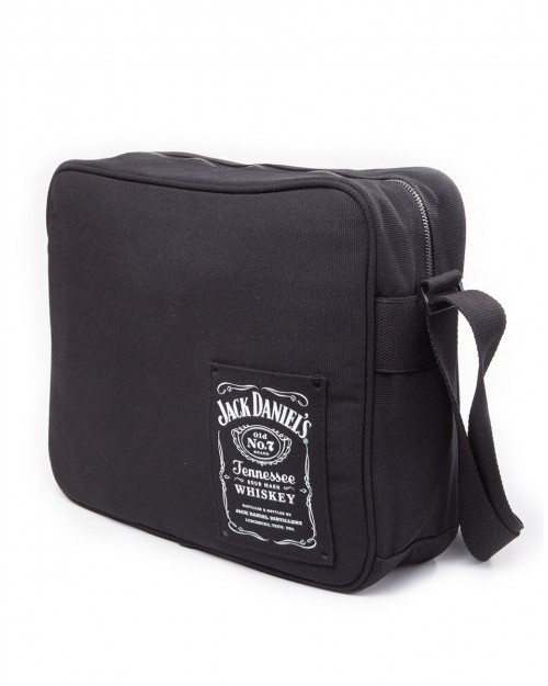 OFFICIAL JACK DANIELS LOGO COTTON BLACK SHOULDER/ MESSENGER BAG