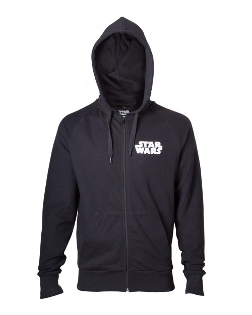OFFICIAL STAR WARS DARTH VADER DARK SIDE BACK PRINT ZIP HOODIE JUMPER