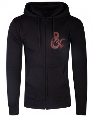 OFFICIAL DUNGEONS & DRAGONS ICONIC LOGO BACK PRINT ZIP HOODIE JUMPER