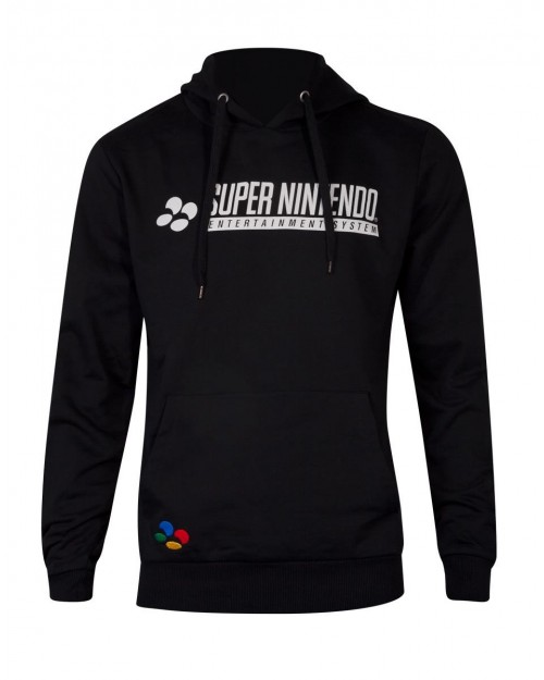 OFFICIAL SUPER NINTENDO ENTERTAINMENT SYSTEM (SNES) CONTROLLER BACK PRINT HOODIE JUMPER