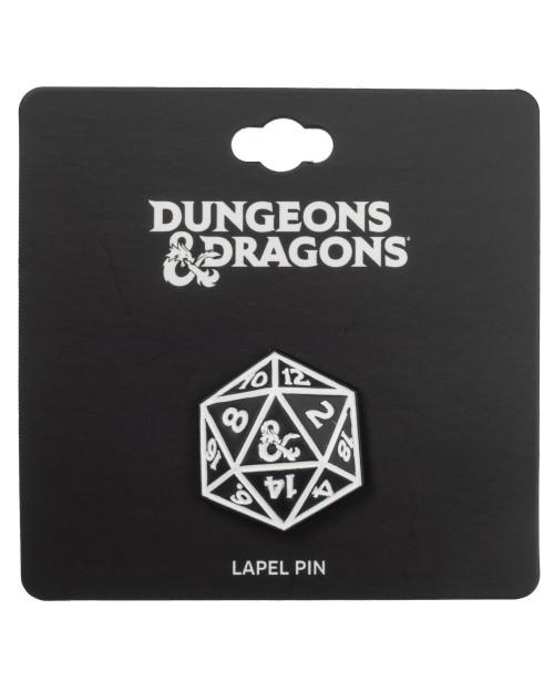 DUNGEONS & DRAGONS - ICOSAHEDRON DICE METAL PIN BADGE