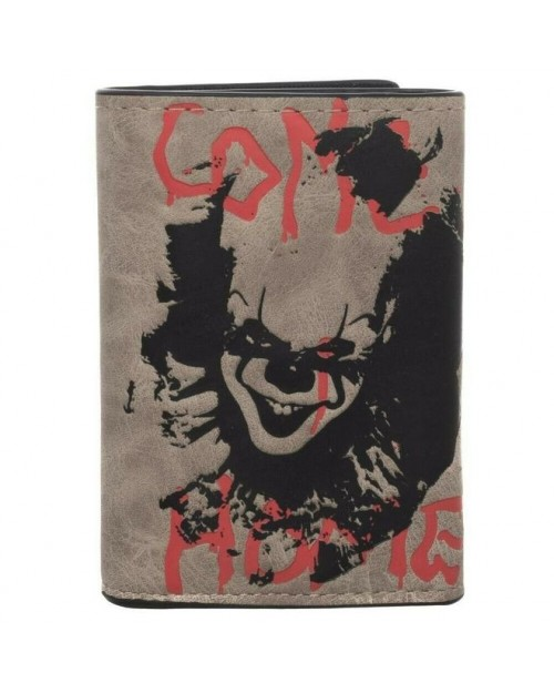 OFFICIAL IT 2 - PENNYWISE THE CLOWN COME HOME TRI-FOLD WALLET WITH CHAIN