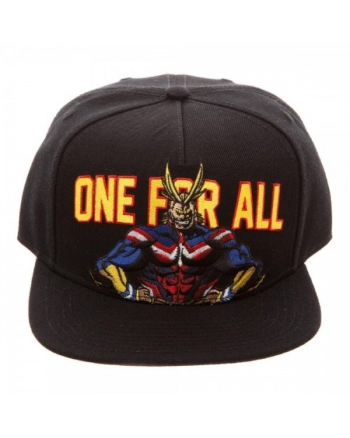 MY HERO ACADEMIA - ONE FOR ALL - ALL MIGHT BLACK SNAPBACK CAP