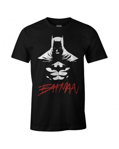 OFFICIAL DC COMICS BATMAN JIM LEE DESIGN PRINT BLACK T-SHIRT