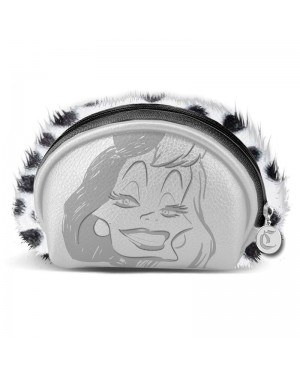 OFFICIAL DISNEY VILLAINS - CRUELLA DE VIL SILVER ZIP COIN PURSE